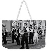 Bourbon Street Second Line Wedding New Orleans In Black And White Weekender Tote Bag