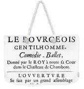 Bourgeois Gentilhomme Weekender Tote Bag
