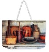 Bowls Basket And Wooden Spoons Weekender Tote Bag