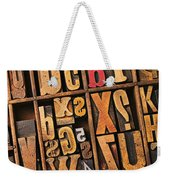 Box Of Old Wooden Type Setting Blocks Weekender Tote Bag