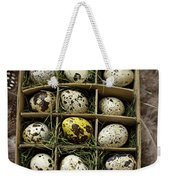 Box Of Quail Eggs Weekender Tote Bag