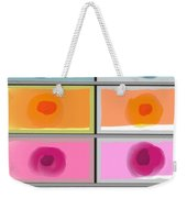 Boxed In Colors Weekender Tote Bag
