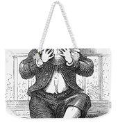 Boy Eating Weekender Tote Bag