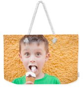 Boy Having Ice Cream Weekender Tote Bag