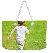 Boy Running Weekender Tote Bag