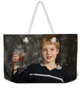 Boy With A Hot Glass Of Water Weekender Tote Bag