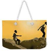 Boys Playing On The Rocks Weekender Tote Bag