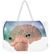 Brain In Skateboard Helmet Weekender Tote Bag