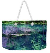 Branch And Reflections At Alley Spring State Park Weekender Tote Bag