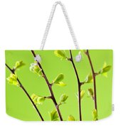 Branches With Green Spring Leaves Weekender Tote Bag