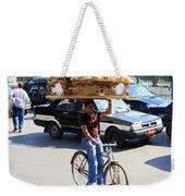 Bread On A Bicycle Weekender Tote Bag