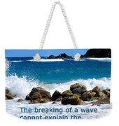 Breaking Waves Weekender Tote Bag