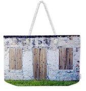 Brick And Wooden Building Weekender Tote Bag