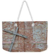 Brick Wall Cross Weekender Tote Bag