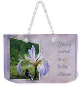 Bridal Shower Invitation - Blue Flag Iris Wildflower Weekender Tote Bag