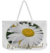Bridal Shower Invitation - White Ox Eye Daisy Weekender Tote Bag