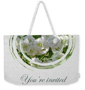 Bridal Shower Invitation - White Spirea Weekender Tote Bag