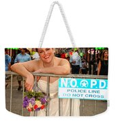 Bride And The Barricade On Bourbon Street Weekender Tote Bag