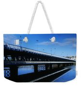Bridge Across A River, Double-decker Weekender Tote Bag