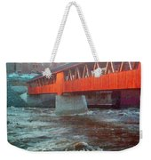 Bridge Across The Ammonoosuc River Weekender Tote Bag