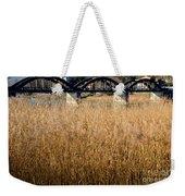 Bridge And Pampas Grass Weekender Tote Bag
