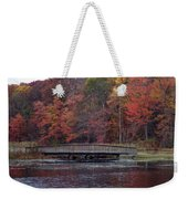 Bridge In Autumn Weekender Tote Bag