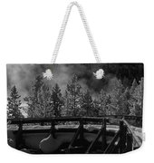 Bridge In Mud Volcano Area Weekender Tote Bag