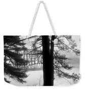 Bridge In The Fog Bw Weekender Tote Bag