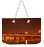 Bridge In The Mist Weekender Tote Bag
