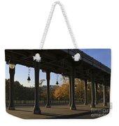 Bridge Of Bir Hakeim In Paris Weekender Tote Bag
