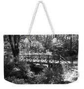 Bridge Of Centralpark In Black And White Weekender Tote Bag