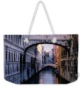 Bridge Of Sighs And Morning Colors In Venice Weekender Tote Bag