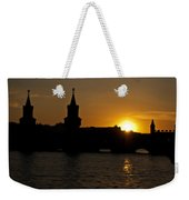 Bridge Sunset Weekender Tote Bag