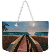 Bridge To Beach Weekender Tote Bag