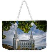 Brigham City Temple Leaves Arch Weekender Tote Bag