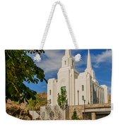Brigham City Temple Stones Weekender Tote Bag