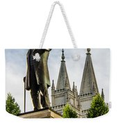Brigham's Slc Temple Weekender Tote Bag