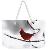 Bright In The Snow - Cardinal Weekender Tote Bag