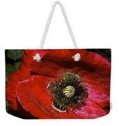 Bright Red Poppy Weekender Tote Bag