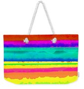 Bright Stripe Weekender Tote Bag