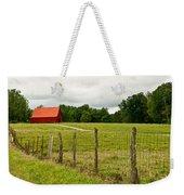 Brillant Red Barn Weekender Tote Bag