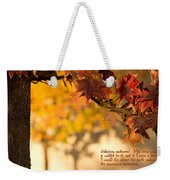 Brilliant Autumn Color Weekender Tote Bag