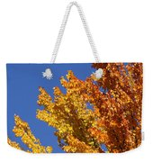 Brilliant Fall Color And Deep Blue Sky Weekender Tote Bag