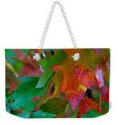 Brilliant Red Maple Leaves Weekender Tote Bag