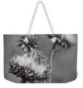 Bristle Thistle In Black And White Weekender Tote Bag