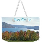 Bristol Harbor Birthday  Weekender Tote Bag
