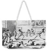 British Officers: Cartoon. English Cartoon Satire, 1777, On The Want Of Training Of British Officers To Prepare Them For The American War Weekender Tote Bag