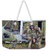 British Soldiers Help A Simulated Weekender Tote Bag