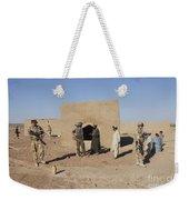 British Soldiers On Foot Patrol Weekender Tote Bag