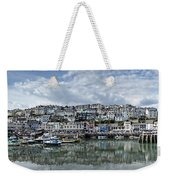 Brixham Harbour - Panorama Weekender Tote Bag